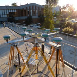 GNSS Antenna Array set up at the Curtin University Bentley campus