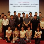 The GNSS workshop participants together with Dr Qianxin Wang of CASM and Peter and Bofeng of Curtin GNSS Research Centre.